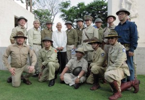Members of the Philippine Scouts Heritage Society with Col. Jaime Guerrero of the 88th Field Artillery who served in the Battle of Bataan, 1942