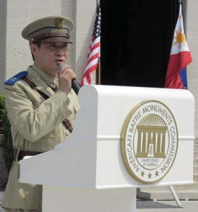 Jojo Dy, PSHS McKinley Chapter President in a Commonwealth Class A uniform, addressed the assembled