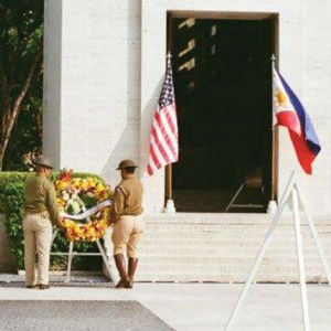 Wreath laying at Chapel entrance