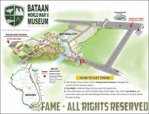 BataanWWIIMuseumMap