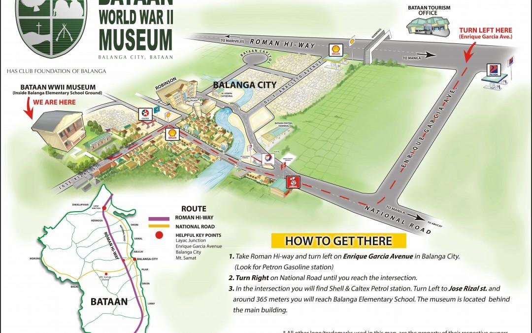 Bataan WWII Museum Location Map