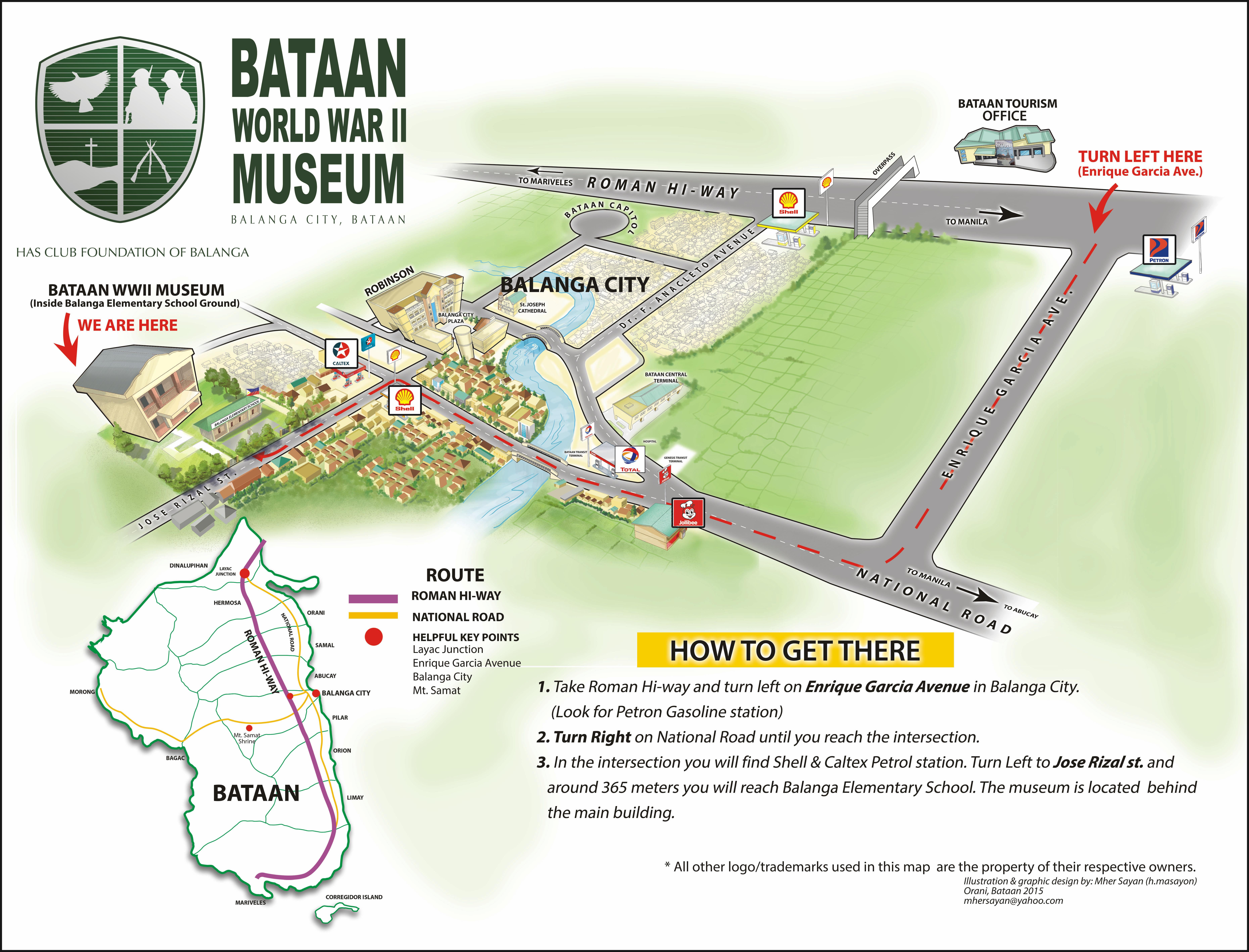 Bataan Wwii Museum Location Map Filpino American Memorial Endowment