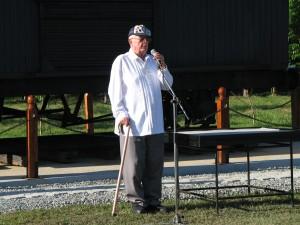 US Army Sgt. Malcom Amos, former POW and Death March survivor.
