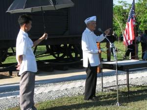 Col. Rafael Estrada, former POW and Death March survivor.