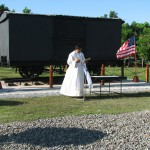 From 2008 – Dedication of POW Box Car